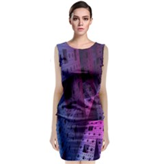 Fractals Geometry Graphic Classic Sleeveless Midi Dress