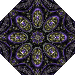Fractal Sparkling Purple Abstract Straight Umbrellas