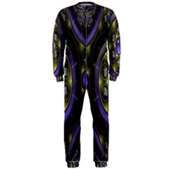 Fractal Sparkling Purple Abstract Onepiece Jumpsuit (men)
