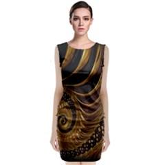 Fractal Spiral Endless Mathematics Classic Sleeveless Midi Dress