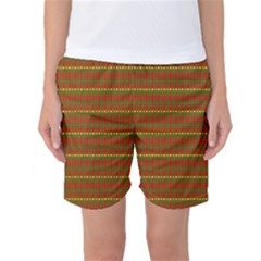 Fugly Christmas Xmas Pattern Women s Basketball Shorts
