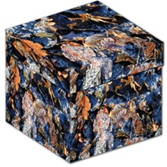 Frost Leaves Winter Park Morning Storage Stool 12