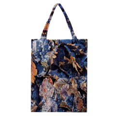 Frost Leaves Winter Park Morning Classic Tote Bag by Nexatart