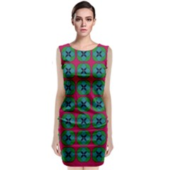 Geometric Patterns Classic Sleeveless Midi Dress