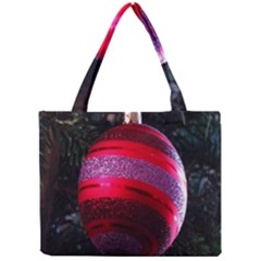 Glass Ball Decorated Beautiful Red Mini Tote Bag