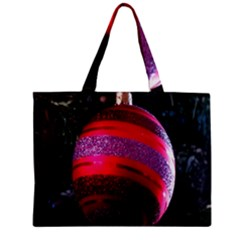 Glass Ball Decorated Beautiful Red Zipper Mini Tote Bag by Nexatart