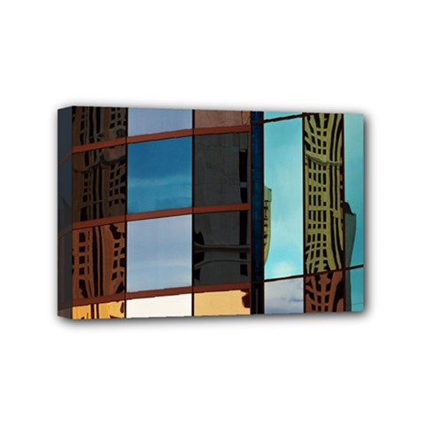 Glass Facade Colorful Architecture Mini Canvas 6  X 4  by Nexatart
