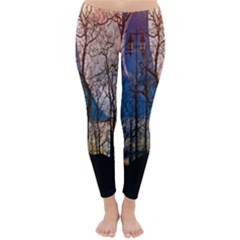 Full Moon Forest Night Darkness Classic Winter Leggings