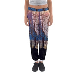 Full Moon Forest Night Darkness Women s Jogger Sweatpants