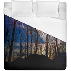 Full Moon Forest Night Darkness Duvet Cover (king Size)