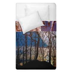 Full Moon Forest Night Darkness Duvet Cover Double Side (single Size) by Nexatart