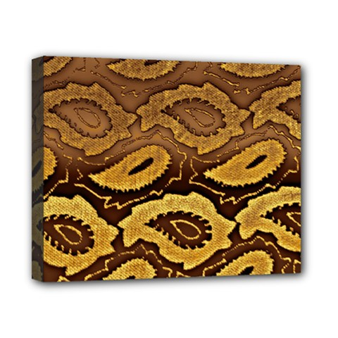 Golden Patterned Paper Canvas 10  X 8