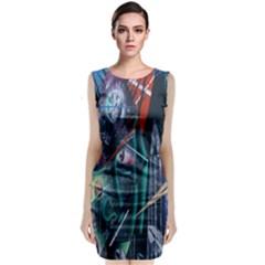 Graffiti Art Urban Design Paint Classic Sleeveless Midi Dress