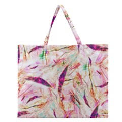 Grass Blades Zipper Large Tote Bag by Nexatart