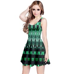 Green Triangle Patterns Reversible Sleeveless Dress