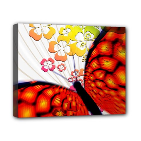 Greeting Card Butterfly Kringel Canvas 10  X 8
