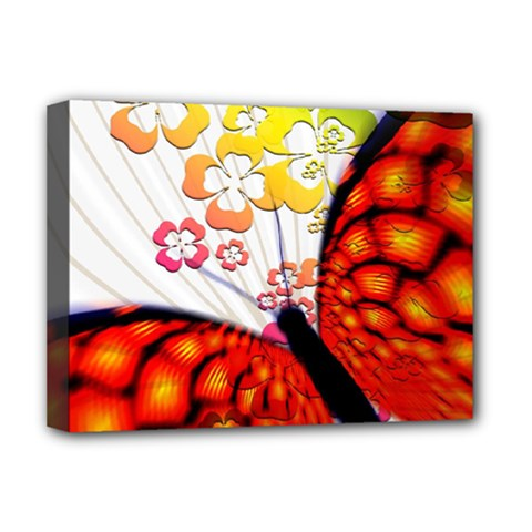 Greeting Card Butterfly Kringel Deluxe Canvas 16  x 12   by Nexatart