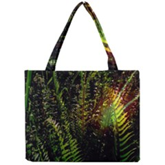 Green Leaves Psychedelic Paint Mini Tote Bag by Nexatart