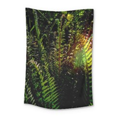 Green Leaves Psychedelic Paint Small Tapestry by Nexatart
