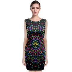 Fractal Texture Classic Sleeveless Midi Dress