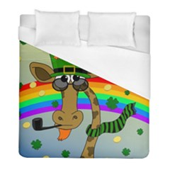 Irish Giraffe Duvet Cover (full/ Double Size) by Valentinaart
