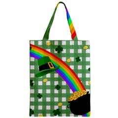 St  Patrick s Day Rainbow Zipper Classic Tote Bag by Valentinaart