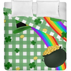 St  Patrick s Day Rainbow Duvet Cover Double Side (king Size) by Valentinaart