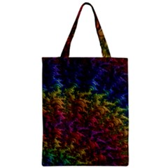 Fractal Art Design Colorful Zipper Classic Tote Bag by Nexatart