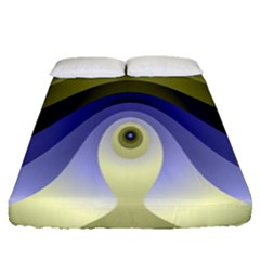 Fractal Eye Fantasy Digital Fitted Sheet (queen Size) by Nexatart