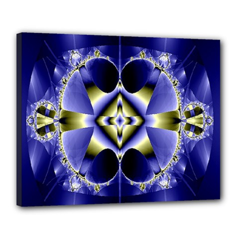 Fractal Fantasy Blue Beauty Canvas 20  X 16