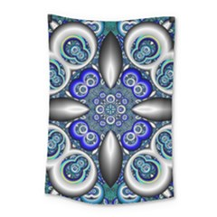 Fractal Cathedral Pattern Mosaic Small Tapestry by Nexatart
