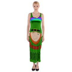 St  Patrick s Day Fitted Maxi Dress by Valentinaart