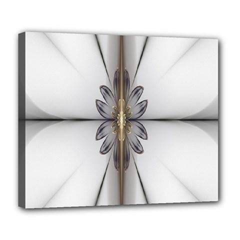 Fractal Fleur Elegance Flower Deluxe Canvas 24  x 20