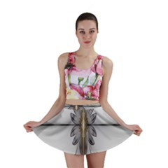 Fractal Fleur Elegance Flower Mini Skirt by Nexatart
