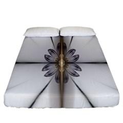 Fractal Fleur Elegance Flower Fitted Sheet (california King Size)