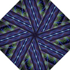 Fractal Blue Lines Colorful Golf Umbrellas