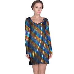 Fractal Digital Art Long Sleeve Nightdress