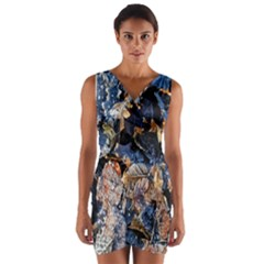 Frost Leaves Winter Park Morning Wrap Front Bodycon Dress