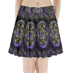Fractal Sparkling Purple Abstract Pleated Mini Skirt by Nexatart