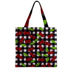 Cherry Kingdom  Grocery Tote Bag by Valentinaart