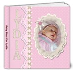 Baby Book for Lydia - 8x8 Deluxe Photo Book (20 pages)