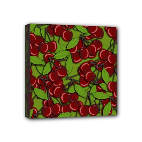Cherry Jammy Pattern Mini Canvas 4  X 4  by Valentinaart