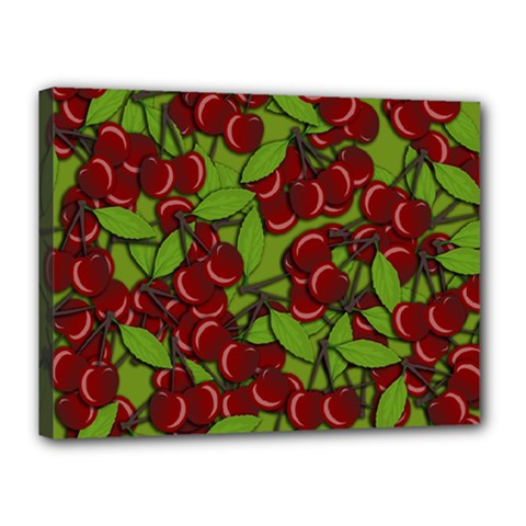 Cherry Jammy Pattern Canvas 16  X 12  by Valentinaart