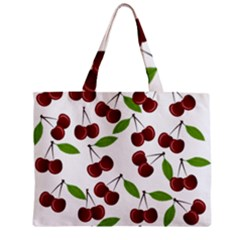 Cherry Pattern Zipper Mini Tote Bag by Valentinaart