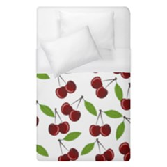 Cherry Pattern Duvet Cover (single Size) by Valentinaart