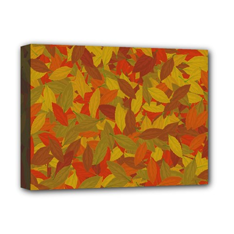 Orange Autumn Deluxe Canvas 16  X 12   by Valentinaart