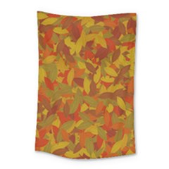 Orange Autumn Small Tapestry by Valentinaart