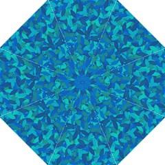 Blue Autumn Golf Umbrellas by Valentinaart