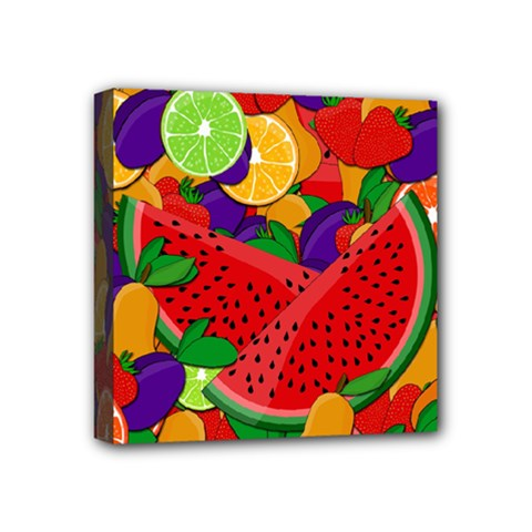 Summer Fruits Mini Canvas 4  X 4  by Valentinaart