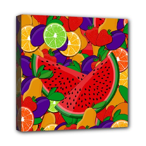 Summer Fruits Mini Canvas 8  X 8  by Valentinaart